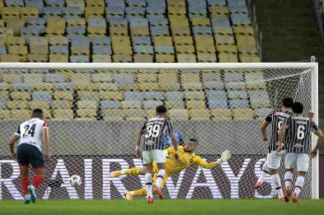 Fred marcou de pênalti (Foto: Staff Images / CONMEBOL)
