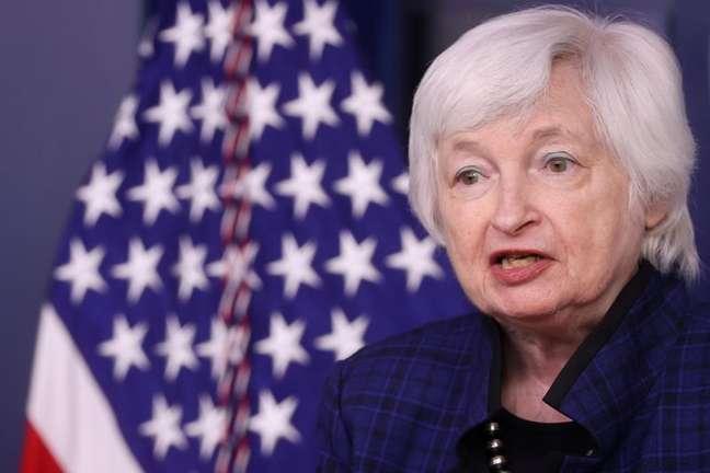 Yellen, secretária do Tesouro dos EUA, em evento na Casa Branca, em Washington 07/05/2021 REUTERS/Jonathan Ernst