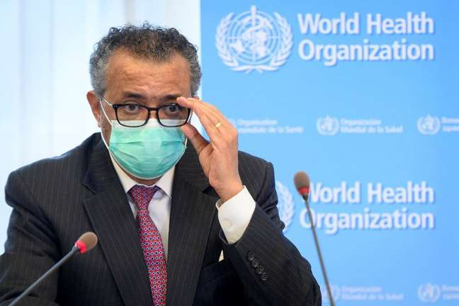 Diretor-geral da Organização Mundial de Saúde, Tedros Adhanom Ghebreyesus, em Genebra 24/05/2021 Laurent Gillieron/Pool via REUTERS