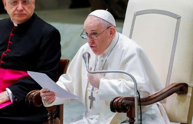 Papa Francisco em audiência no Vaticano 04/08/2021 REUTERS/Remo Casilli