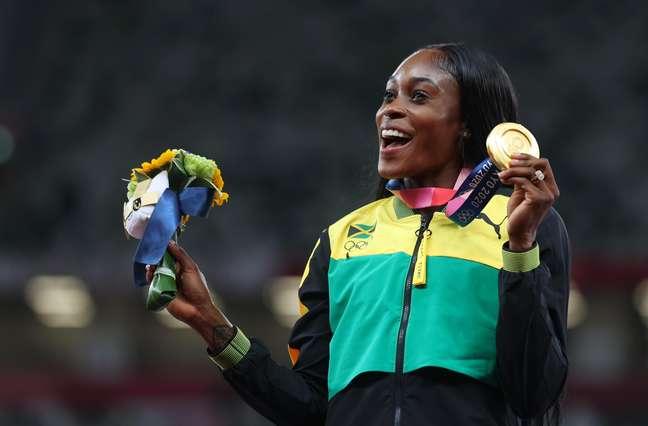 Elaine Thompson-Herah venceu os 100m e 200m