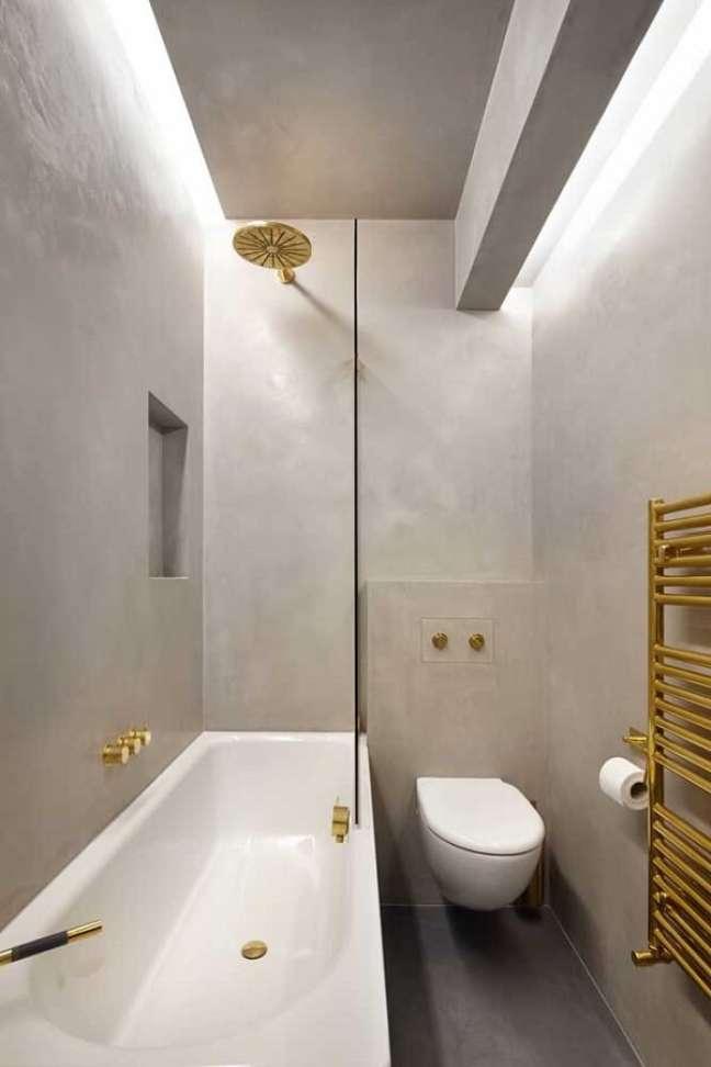 36. Decoração de gesso no banheiro – Foto Ideias decor