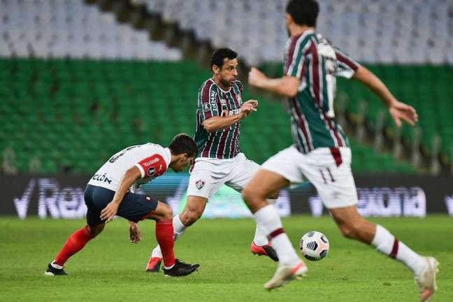 Fluminense apresentou problemas em todos os setores, mas garantiu a vitória (Foto: Staff Images / CONMEBOL)