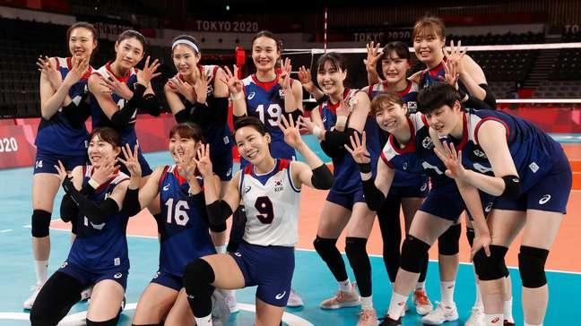 Sul-coreanas comemoram vitória e classificação nos Jogos Olímpicos de Tóquio Valentyn Ogirenko/Reuters