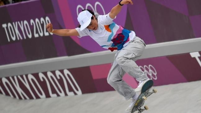A francesa Hym foi eliminada no skate park, prova que teve duas japonesas e uma brasileira no pódio