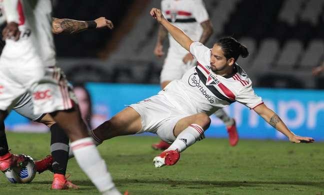 Benítez durante jogo contra o Vasco (Foto: Rubens Chiri / saopaulofc.net)