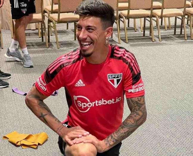 Titulares do São Paulo contra o Vasco realizaram atividade física no hotel (Foto: Divulgação/São Paulo)