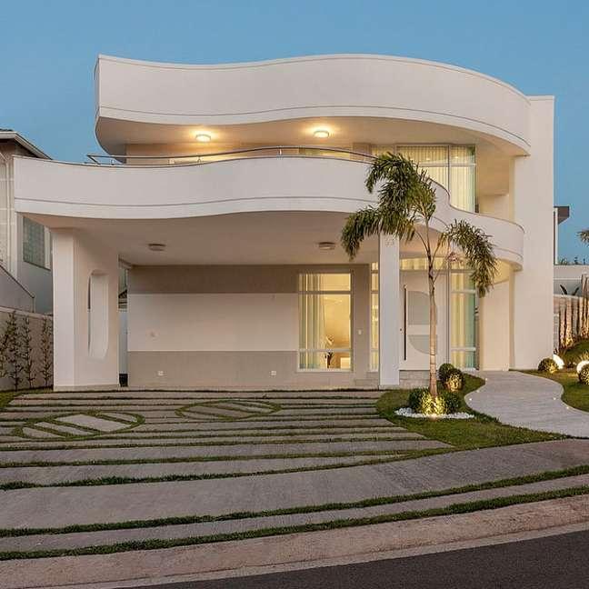 44. Modelos de garagem na entrada de casa moderna – Foto Deco ideias Ale