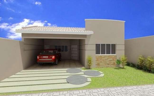 26. Modelos de garagem coberta para casa moderna – Foto Pinterest