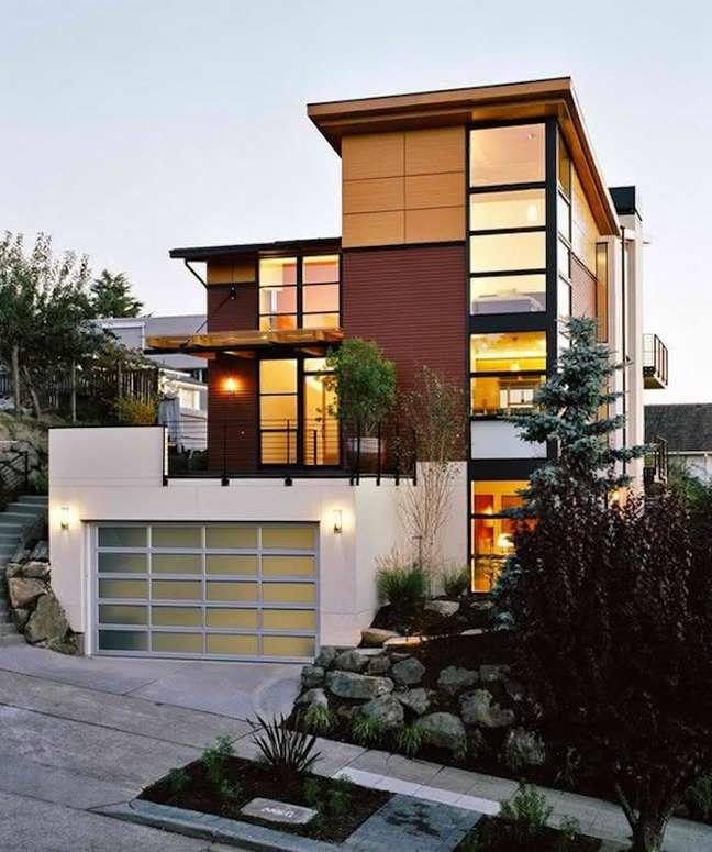 38. Modelos de garagem com portão de vidro – Foto Home Design Lover