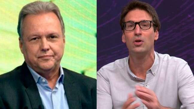 Renato Maurício Prado e Arnaldo Ribeiro tem colunas no portal UOL e passagens pelos canais Disney e Globo (Montagem LANCE!)
