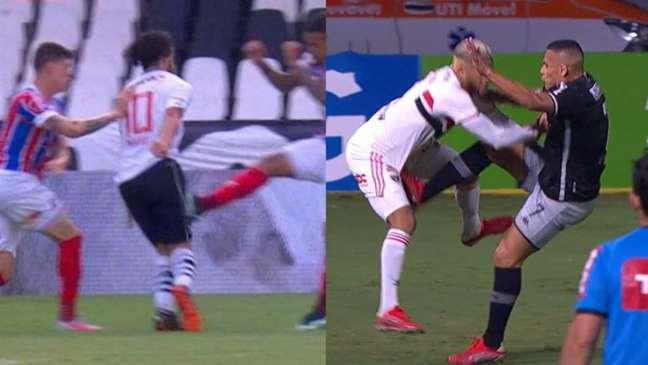 Muitos torcedores do Vasco reclamaram da arbitragem e pediram coerência (Reprodução/Premiere)