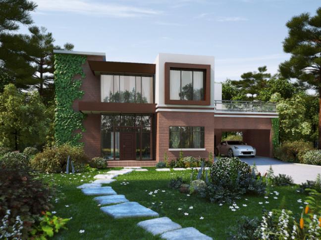 64. Casa com jardim e garagem coberta – Foto JHmaraD
