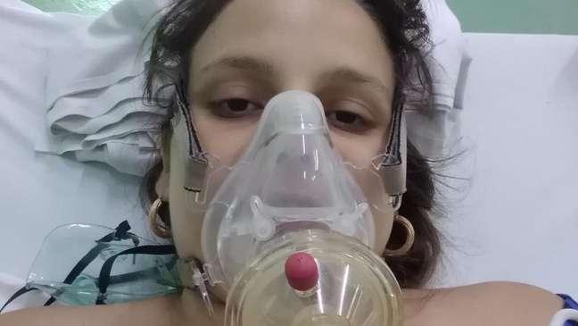 Lydda María Rivero, de 23 anos, prestes a dar à luz seu segundo filho; ela e a criança acabaram falecendo