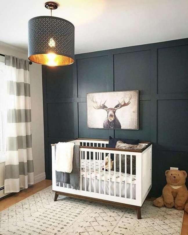 49. Os tons de cinza são lindos para o quarto de bebê moderno – Foto Baby Letto