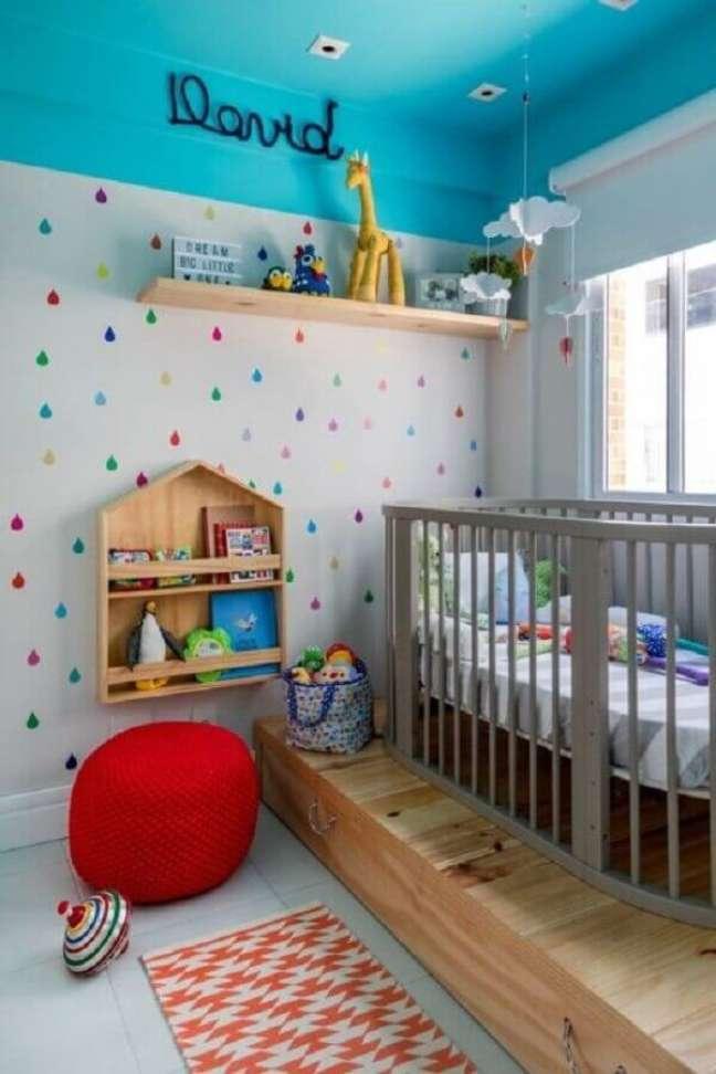20. Quarto de bebe moderno e colorido – Foto Na Toca Design