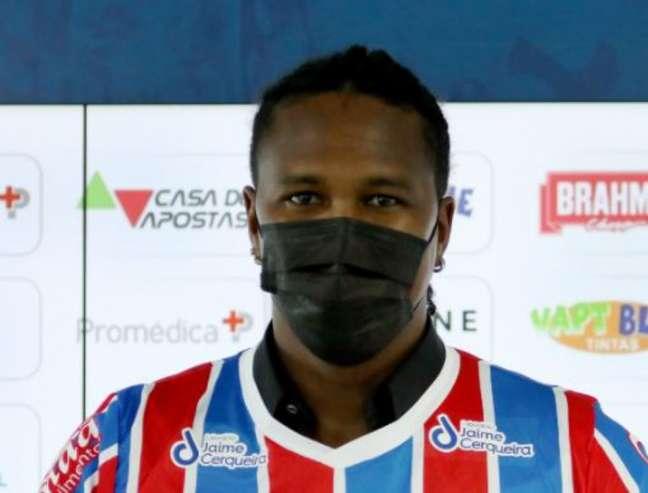 Rodallega pode fazer o primeiro jogo pelo Bahia (Felipe Oliveira/Bahia)