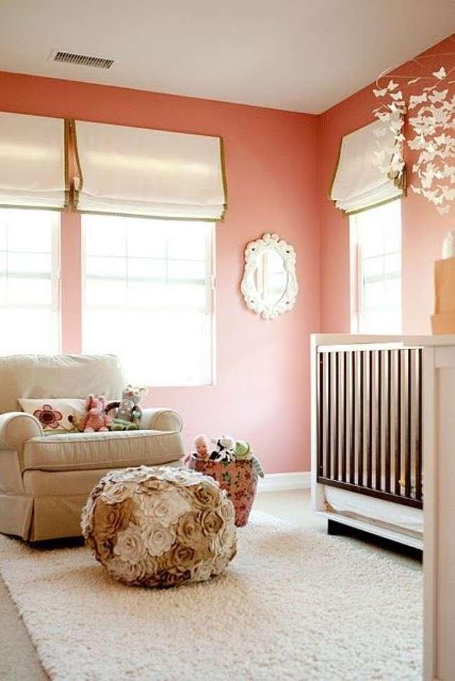 59. Quarto de bebê moderno na cor pêssego – Foto Pinterest