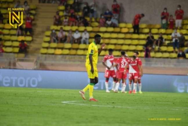 Monaco e Nantes fizeram o primeiro jogo da nova temporada do Campeonato Francês (Foto: Divulgação/Twitter Nantes)