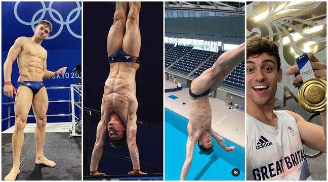 Aos 27 anos, Tom Daley se consagrou na piscina de Tóquio e aumentou o fã-clube internacional