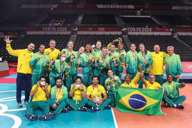 Seleção feminina de vôlei conquista a medalha de prata nos Jogos Olímpicos de Tóquio Gaspar Nóbrega/COB