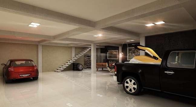 62. Piso cerâmica polido para garagem subterrânea – Foto pinterest