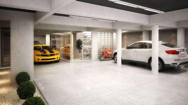 32. Cerâmica para garagem coberta para vários carros – Foto Pinterest