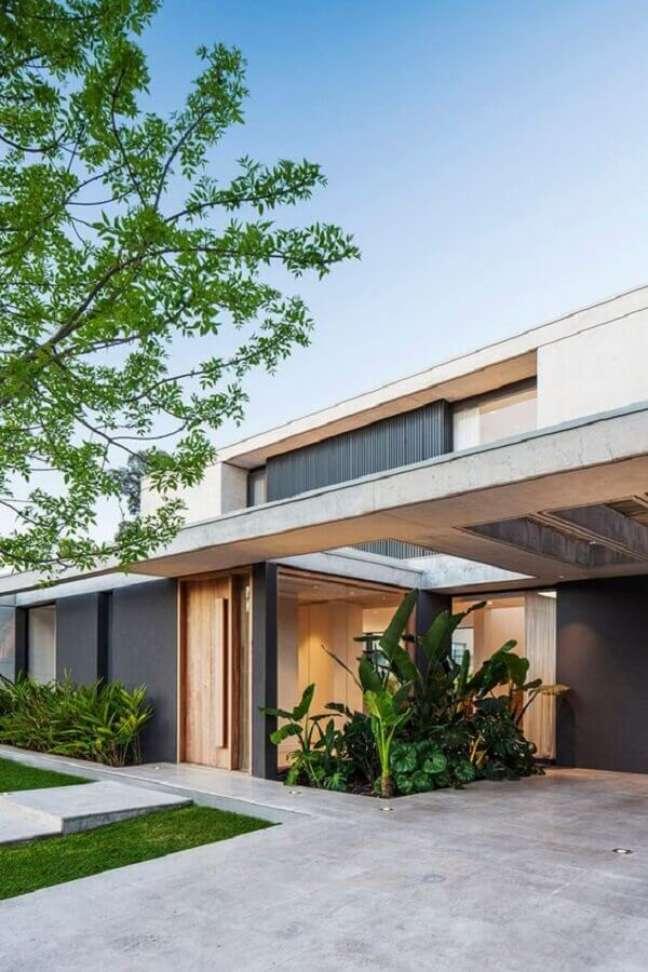 51. Cerâmica para garagem na entrada de casa moderna – Portal de arquitectos