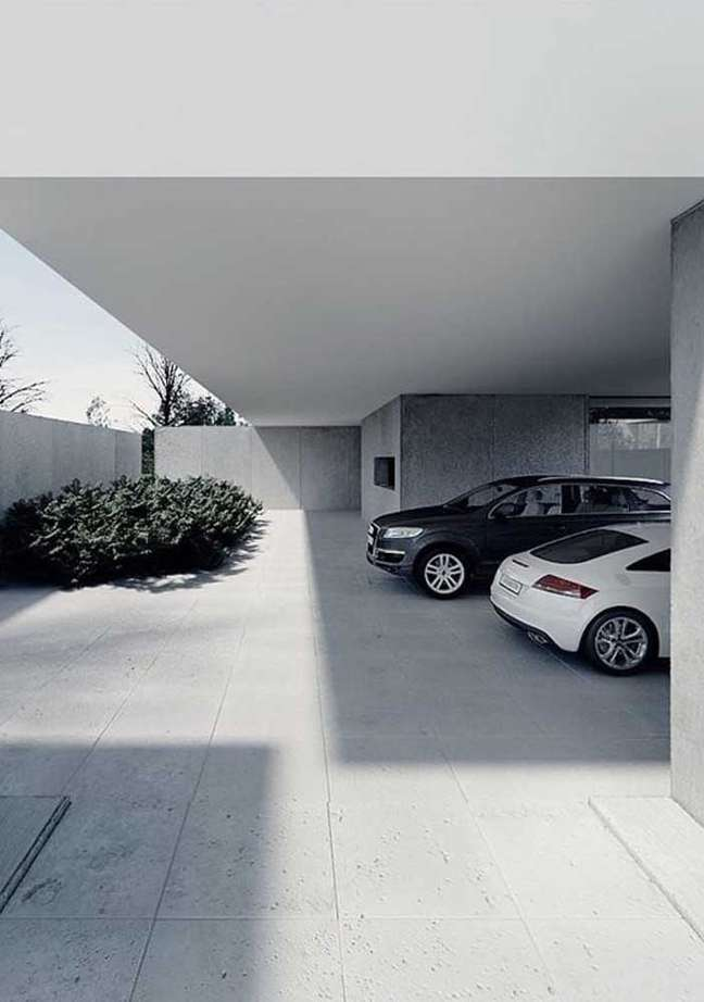 3. Cerâmica para garagem cinza – Foto Ideias DEcor