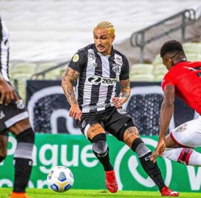 Ceará e Atlético-GO ficaram no empate sem gols (Foto: Divulgação/Felipe Santos/Ceará)