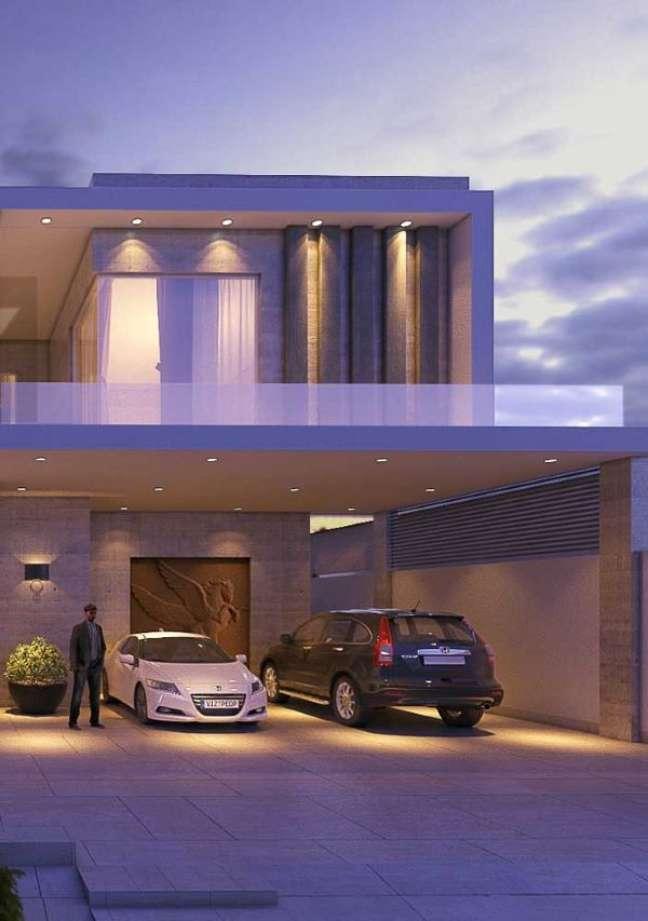 49. Cerâmica para garagem moderna e cinza – Foto Pinterest