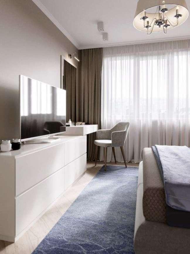 20. Rack para quarto branco no quarto de casal – Foto VK