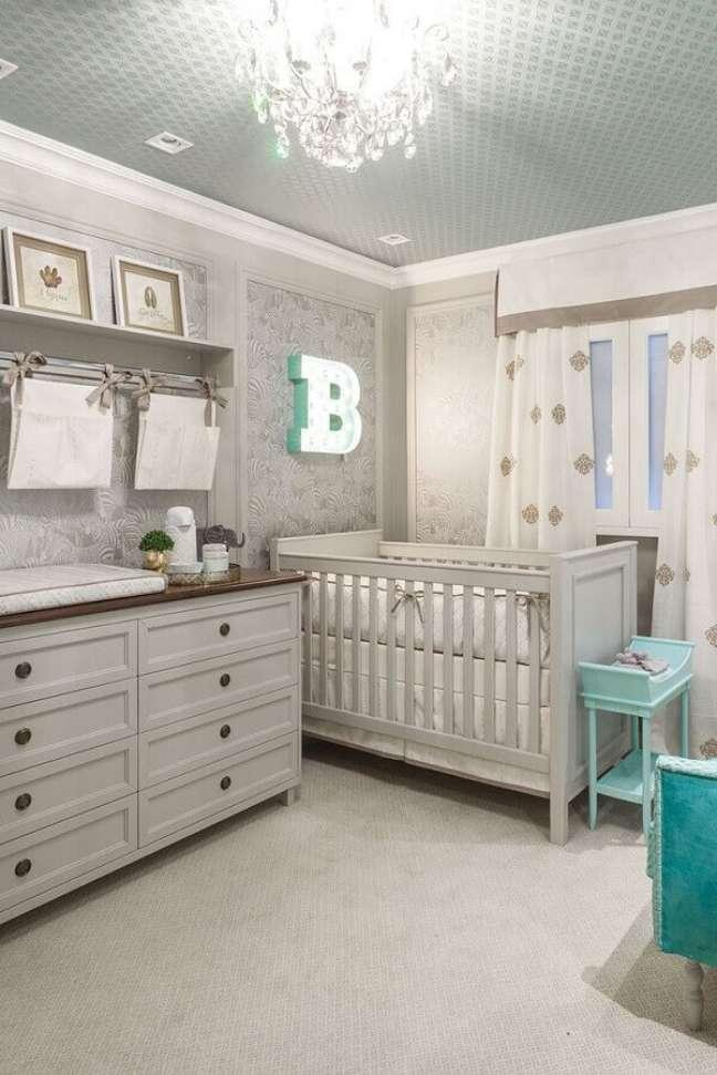 1. Cores claras e neutras para decoração de quarto para bebê – Foto: Home Fashion Trend