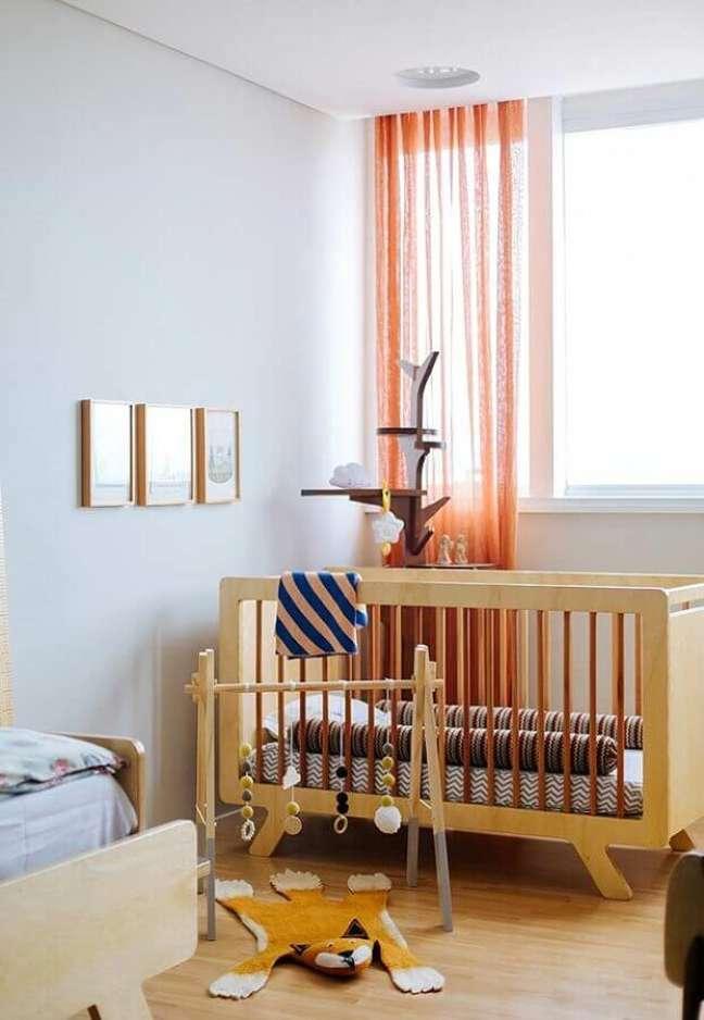 36. Decoração simples de quarto para bebê – Foto: Histórias de Casa
