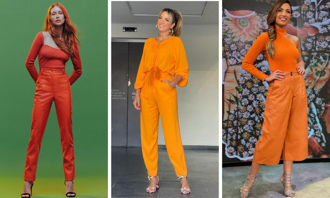 Famosas vestem look laranja