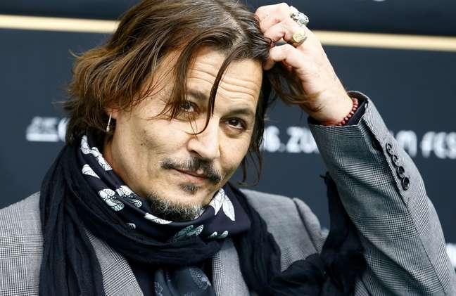Johnny Depp durante o Festival de Cinema de Zurique 02/10/2020