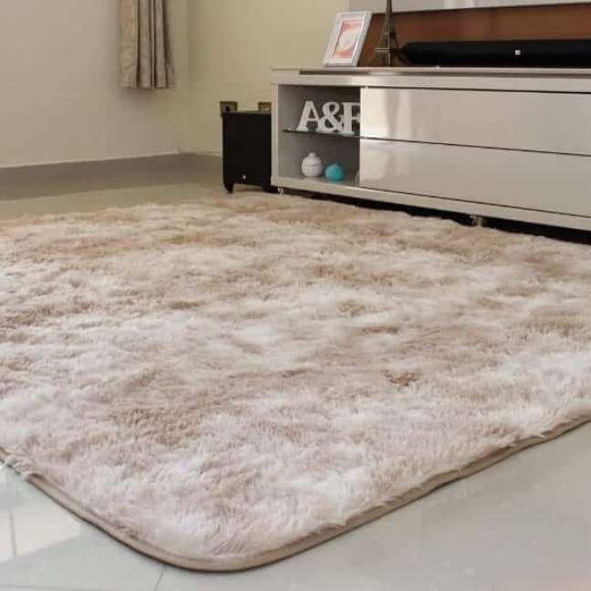 29. Tapete de lã bege na sala de estar moderna – Foto Niko Taptes
