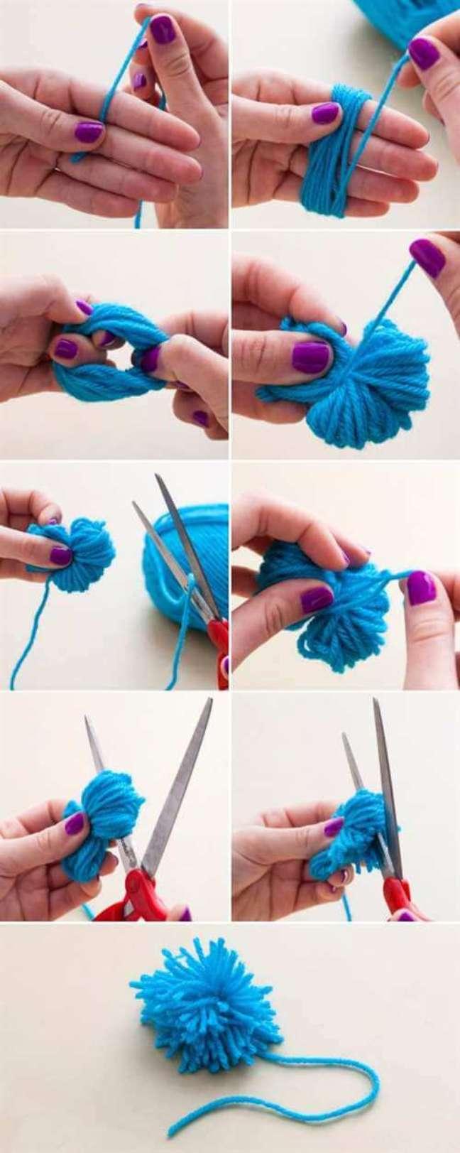 11. Como fazer pompom para tapete de lã – Foto Como Fazer Artesanatos