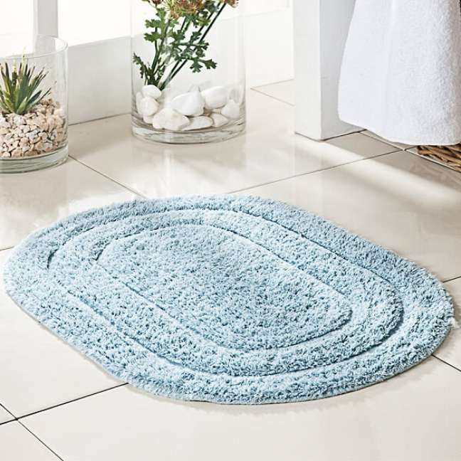 49. Tapete redondo e simples de lã – Foto Pinterest