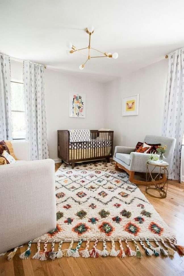 56. Tapete de lã para quarto de bebê moderno – Foto Decoist