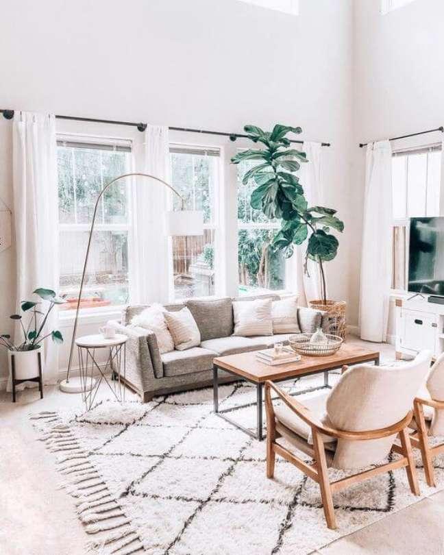 44. Tapete de lã estilo escandinavo para sala de estar moderna – Foto article