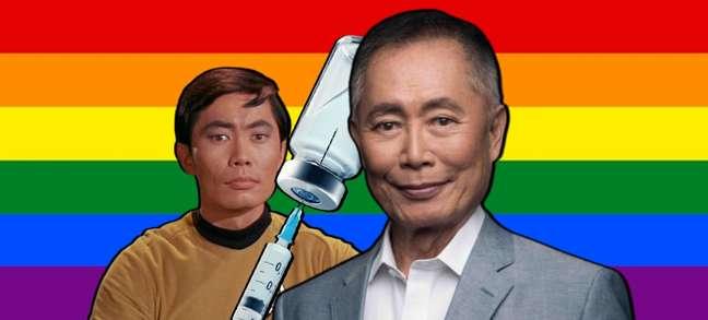 Eterno Sulu, George Takei se irrita com quem dispensa a vacina enquanto festeja os atletas olímpicos LGBTQIA+