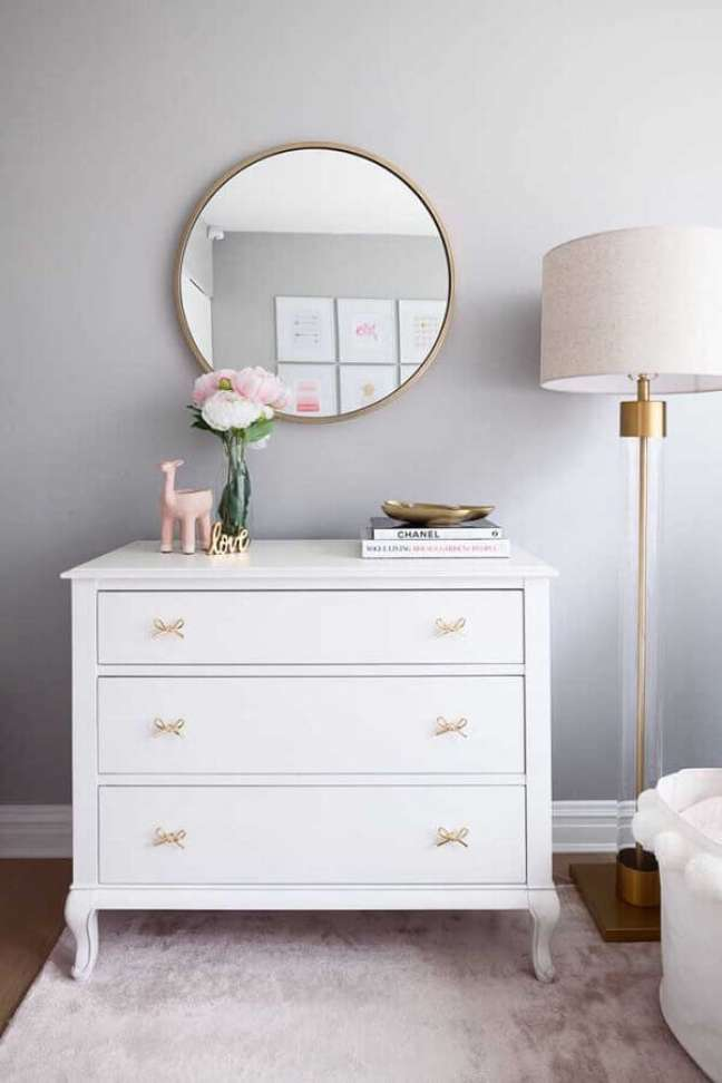 3. Os puxadores em formato de laço são ótimos para decorar o quarto infantil feminino – Foto: Houzz