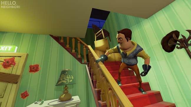 Em uma casa peculiar, fuja do Vizinho neste divertido jogo de suspense em equipe.