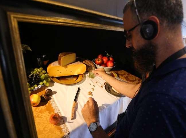 """Museu holandês preenche """"Ponto Cego"""" com exibição para deficientes visuais 14/08/2021 REUTERS/Eva Plevier"""