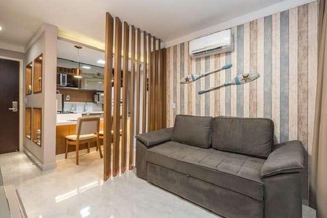 10. Utilize o papel de parede em diferentes ambientes da casa. Foto: Habitissimo