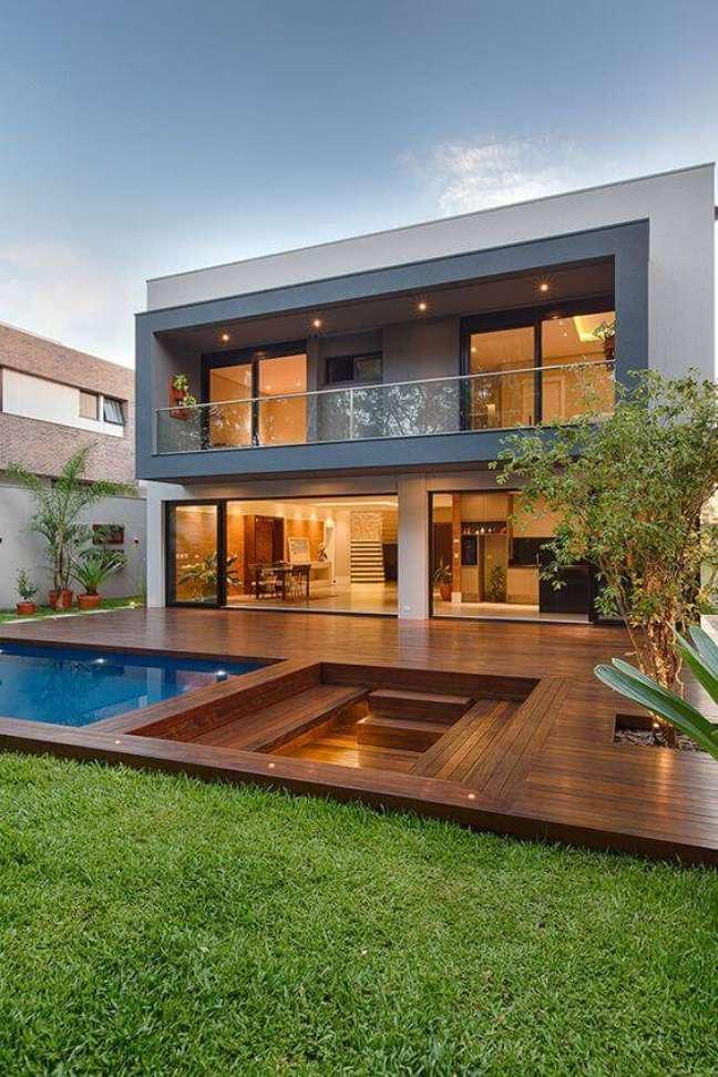 59. Fachadas de casas modernas com cores cinza na decoração – Foto Mauricio Melara