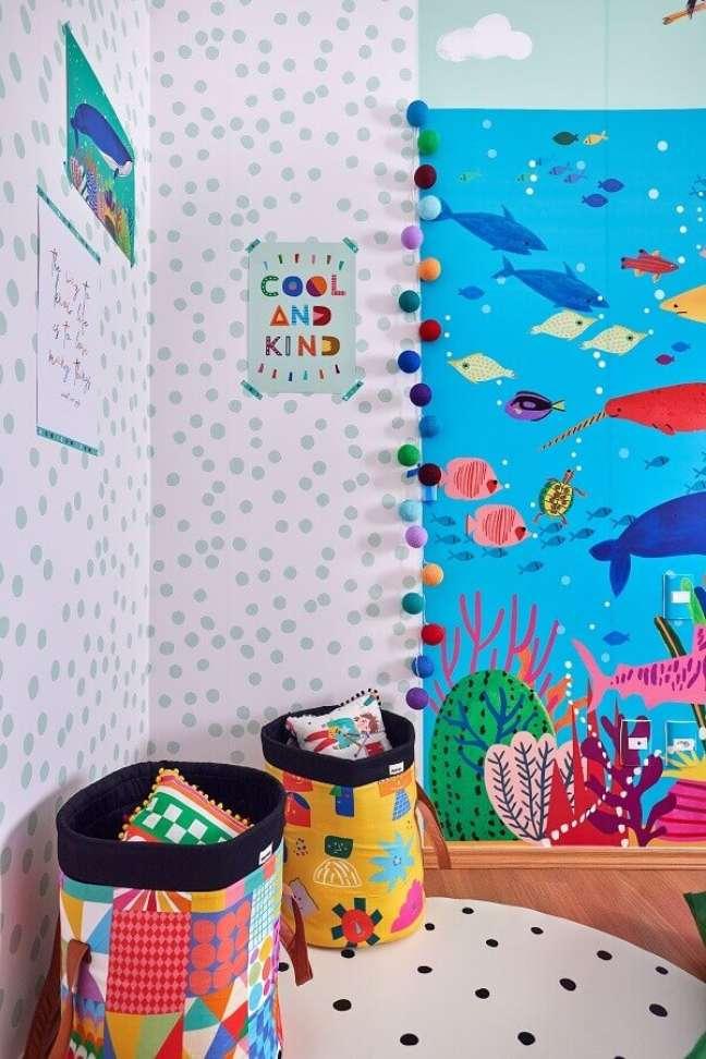 9. Decoração temática para quarto infantil fundo do mar – Foto: Marcos Fertonani para MOOUI