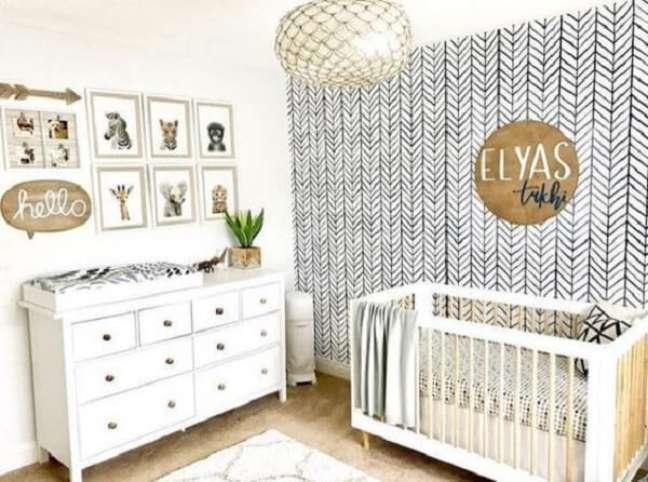 45. Quadros decorativos para quarto de bebê tema safári. Fonte: Revista Viva Decora