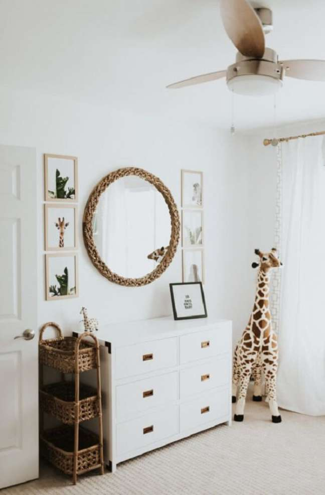 26. Ideias para quarto de bebê safari. Fonte: Pinterest